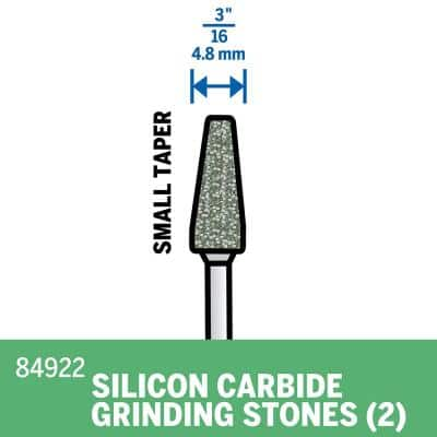 3/16 in. Rotary Tool Cone Silicon Carbide Grinding Stone for Stone, Glass, Ceramic, Porcelain, Gemstone (2-Pack)