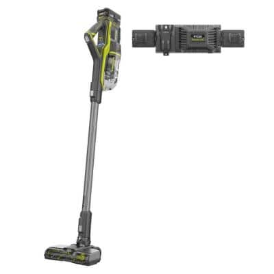 18-Volt ONE+ Brushless Cordless Stick Vacuum Kit with 4.0 Ah Lithium-Ion High Capacity Battery, EVERCHARGE Rapid Charger
