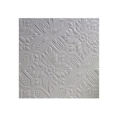 Howard Paintable Supaglypta White & Off-White Wallpaper Sample