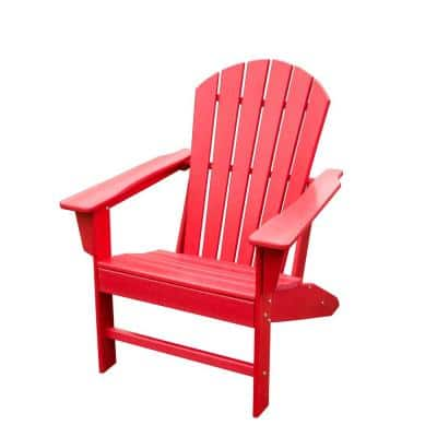 Red HDPE Plastic/Resin Adirondack Chair