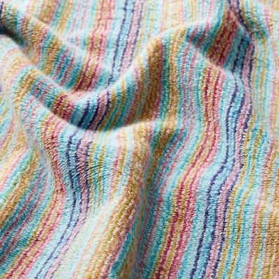 Stripe Multicolored Cotton Fingertip Towel (Set of 2)