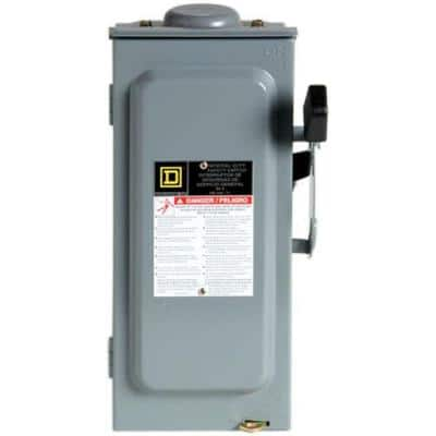 60 Amp 240-Volt 3-Pole 3-Phase Fused Outdoor General Duty Safety Switch