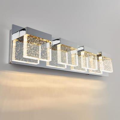 Bubble Cube 24 in. Chrome LED Vanity Light Bar