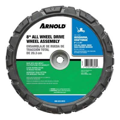 8 in. x 1.75 in. All-Wheel Drive Wheel Assembly for Walk-Behind Mowers Replaces OEM 580365301 and 5913198101