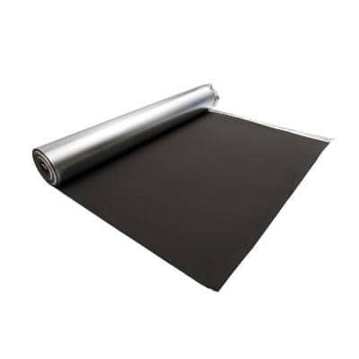 Laminate Flooring Silver EVA Foam Underlayment 2 mm T x 3.3 ft. W x 61 ft. L (200 sq. ft. / roll)