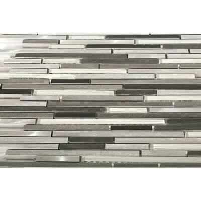 Urban Frozen Platinum 11-3/4 in. x 11-3/4 in. x 8 mm Metal Mosaic Tile
