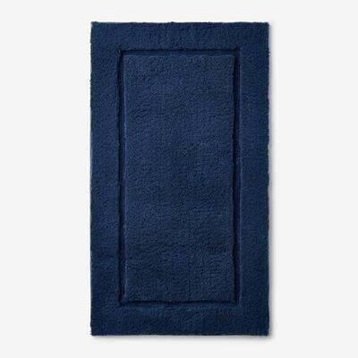 Legends Midnight Blue 50 in. x 30 in. Cotton Bath Rug