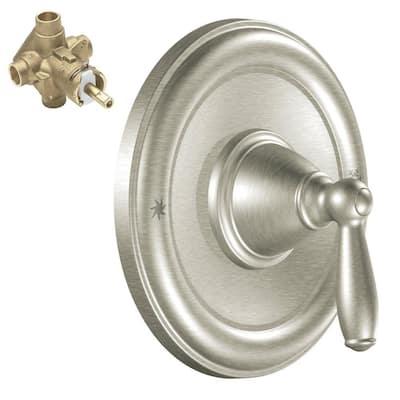 Brantford Single-Handle Posi-Temp Trim Kit in Brushed Nickel (Valve Included)