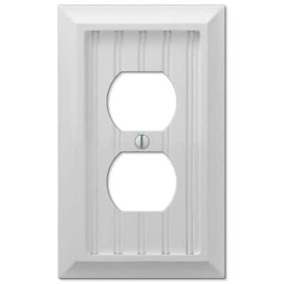 Cottage 1 Gang Duplex Composite Wall Plate - White