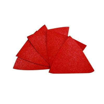 2-7/8 in. x 2-7/8 in. 60-Grit Triangle Detail Sanding Sheet with StickFast Backing (10-Pack)