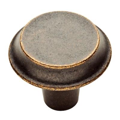 Mizuna 1-3/8 in. (35 mm) Warm Chestnut Round Cabinet Knob