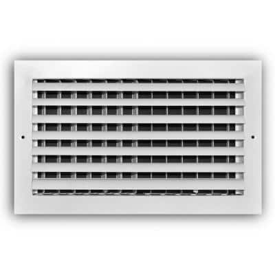 14 in. x 8 in. 1-Way Aluminum Adjustable Curved Blade Wall/Ceiling Register