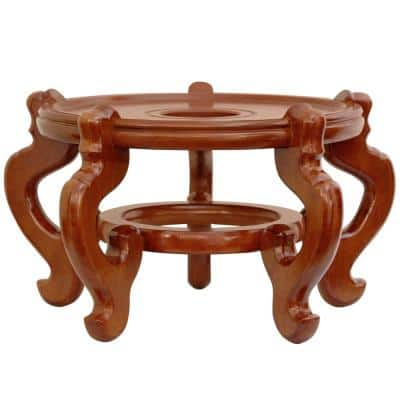 8.5 in. Rosewood Fishbowl Stand in Honey