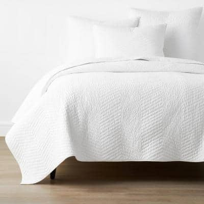 Company Cotton White Solid Twin Quilt