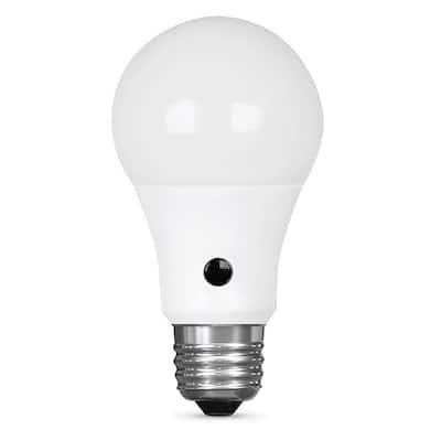 60W Equivalent Soft White (2700K) A19 IntelliBulb Dusk to Dawn CEC Title 20 Compliant 90+ CRI LED Light Bulb