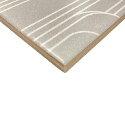 Epoque Oval Taupe/Gray 8 in. x 8 in. Matte Ceramic Floor and Wall Tile (12.7 sq. ft./Case)