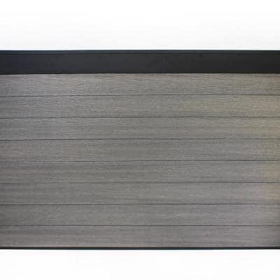 Euro Style Estate 4 ft. H x 6 ft. W Oxford Grey Aluminum/Composite Horizontal Fence Section
