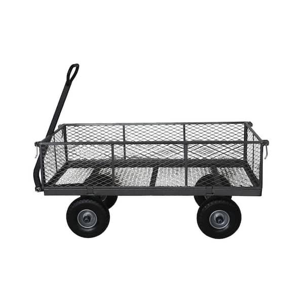 Forza 800 Lbs Capacity Garden Steel, Steel Utility Flat Garden Wagon