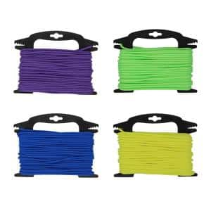 5/32 in. x 75 ft. Neon Colors Polypropylene Diamond Braid Rope with Winder
