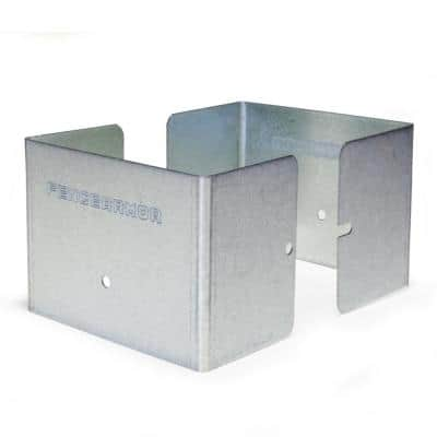 Galvanized Steel Fence Post Guard 4 in. L x 4 in. W x 3 in. H for Wood or Vinyl