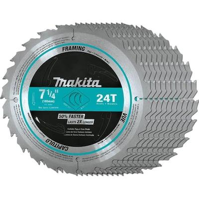 7-1/4 in. 24-Teeth Carbide-Tipped Framing Blade (10-Pack)