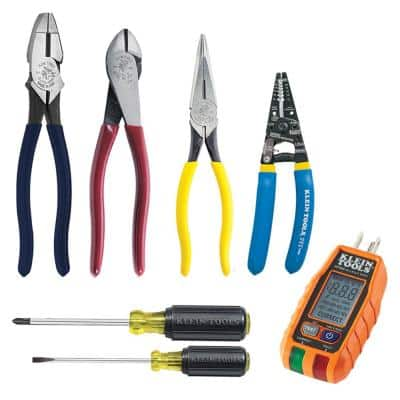 6-Piece Electrical Tool Set and GFCI Receptacle Tester