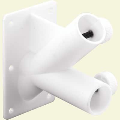 White Plastic, Two Position Flag Pole Holder