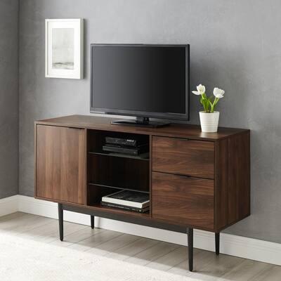"""52"""" Modern 2-Drawer Lifted Sideboard - Dark Walnut"""