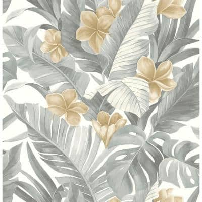 Neutral Paradise Grey Wallpaper Sample