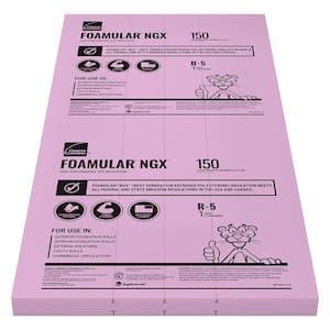FOAMULAR NGX F-150 1 in. x 4 ft. x 8 ft. SSE R-5 XPS Rigid Foam Board Insulation