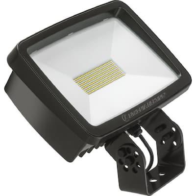 Contractor Select TFX2 94-Watt Dark Bronze Yoke Mount 5000K Outdoor Integrated LED Flood Light