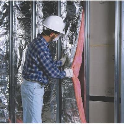 R-30 PINK Metal Framed Foil Faced Fiberglass Insulation Batt 24 in. x 48 in. (8-Bags)