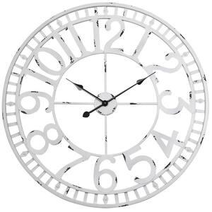 Manhattan Industrial Wall Clock, Analog, White, 32''