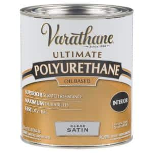 1 qt. Clear Satin 275 VOC Oil-Based Interior Polyurethane (2-Pack)