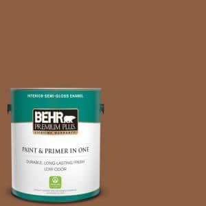 Behr Premium Plus 1 Gal 260f 7 Caramel Latte Semi Gloss Enamel Low Odor Interior Paint And Primer In One 330001 The Home Depot