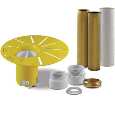 Sinksense Quick-Fit Bathtub Rough-In Drop-In Kit Solid Brass and PVC