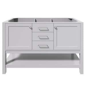 Bayhill 54 in. W Bath Vanity Cabinet Only in Grey