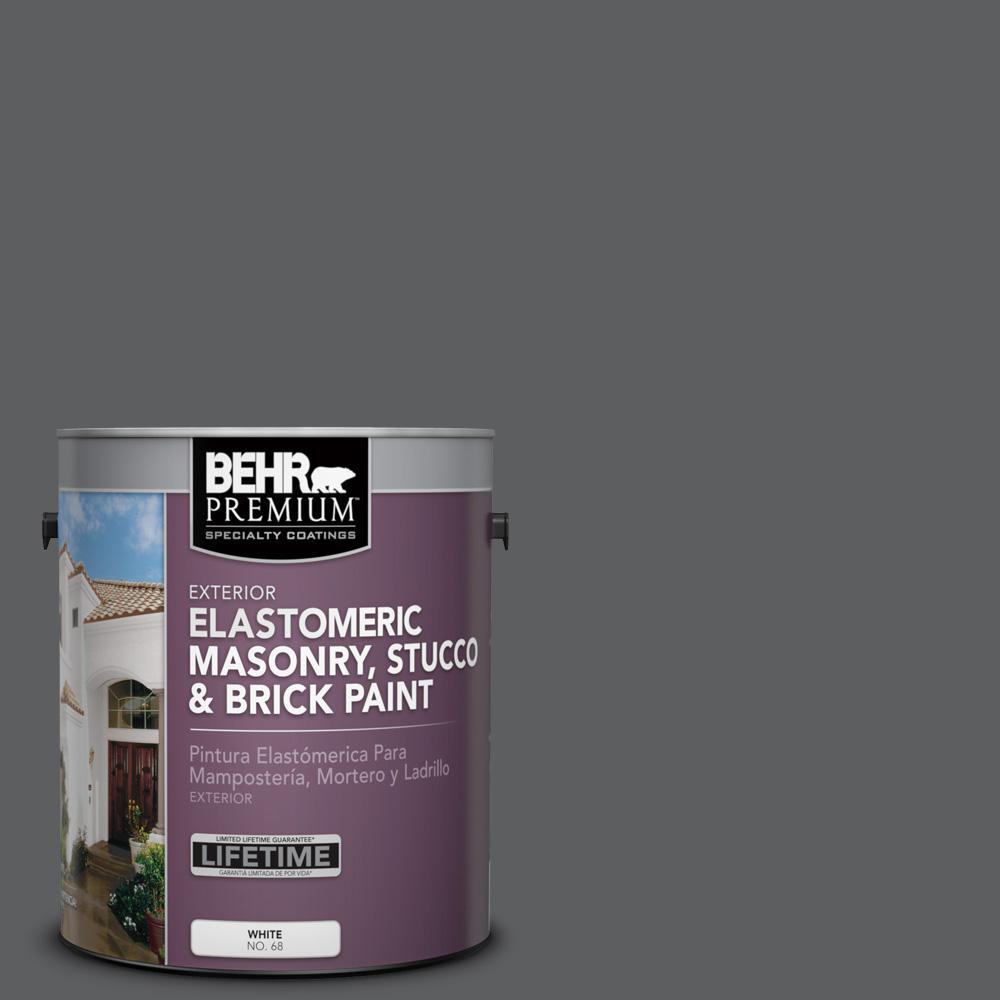 1 gal. #N500-6 Graphic Charcoal Elastomeric Masonry, Stucco and Brick Exterior Paint