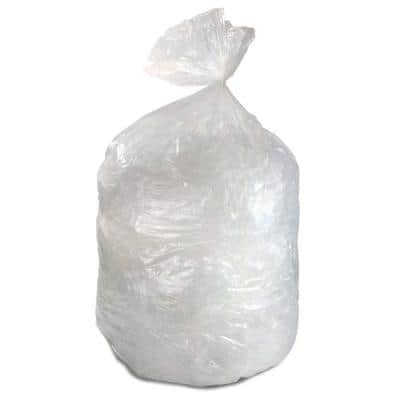 38 in. x 58 in. 60 Gal. 1.4 mil Clear Low-Density Repro Trash Can Liners (25-Bags/Roll, 4-Rolls/Carton)