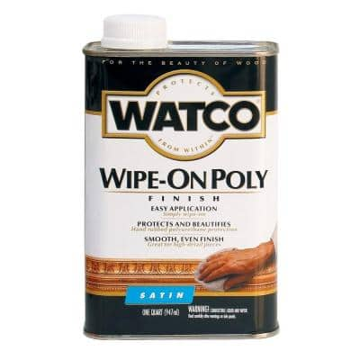 1 qt. Satin Polyurethane Wipe-On