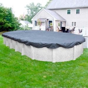 Classic 18 ft. x 33 ft. Oval Azure Blue Winter Pool Cover
