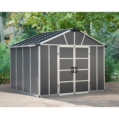 Yukon 11 ft. W x 9 ft. D x 8.3 ft. H Dark Gray Storage Shed