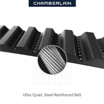 1-1/4 HP LED Smart Quiet Belt Drive Garage Door Opener with Battery Backup