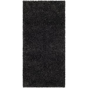 Milan Shag Dark Gray 2 ft. x 4 ft. Solid Area Rug