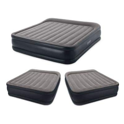 Deluxe King Pillow Rest Inflatable Air Beds w/ Pump & 2 Queen Air Beds