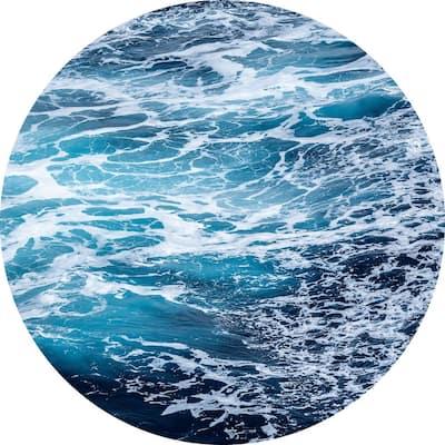 Aloha Blue Non Woven Dot Decal