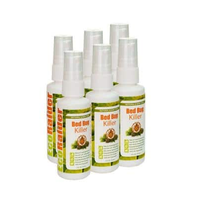 2 oz. Natural and Non-Toxic Travel Spray Bed Bug Killer (6-Pack)