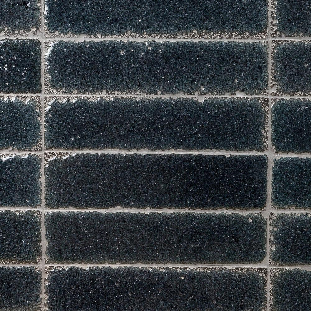 ivy hill tile magma stone black brick 3 in x 12 in 19mm glazed subway tile 4 11 sq ft box 17 pieces per set ext3rd100257 the home depot
