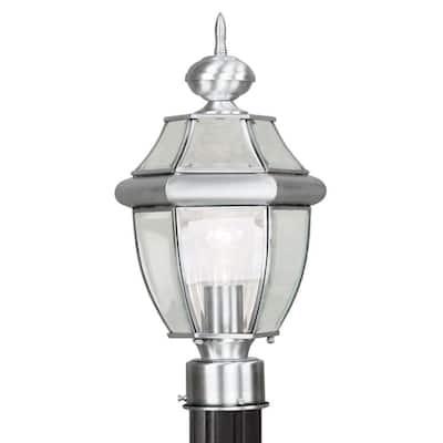 Monterey 1 Light Brushed Nickel Outdoor Post Top Lantern