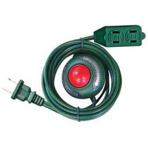 6 ft. 16/2 3-Outlet Extension Cord with Footswitch, Green